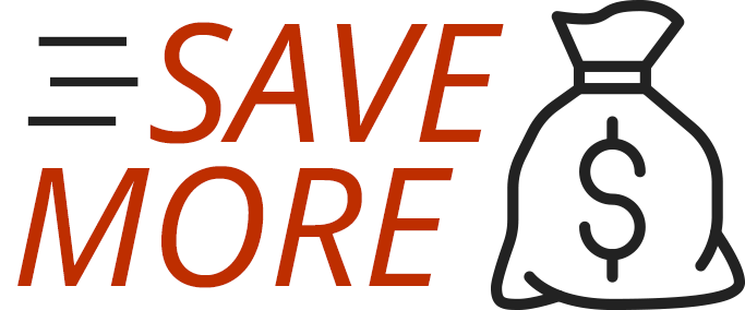 Graphical Text: Save More Money